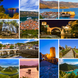 Collage of Montenegro travel images